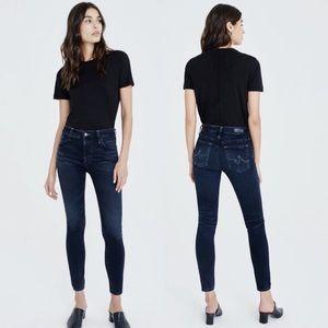 AG The Farrah High-Rise Skinny Ankle Jean 29 Dark